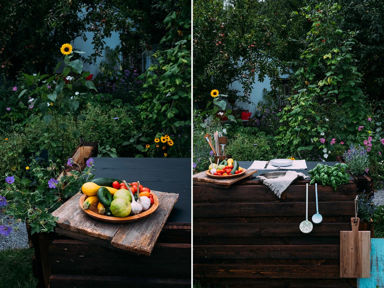 gartenküche aus paletten bauen – wilde gartenküche